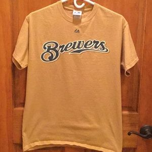 Brewers t-shirt by Majestic size M